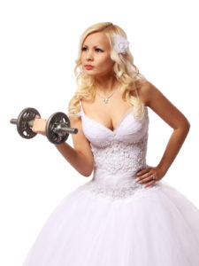 bride with dumbbell